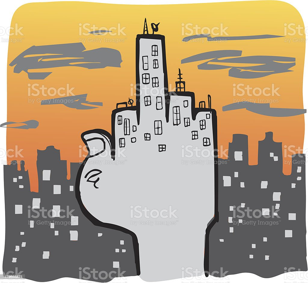Urban Life vector art illustration
