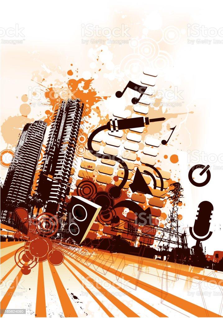 Urban Music vector art illustration