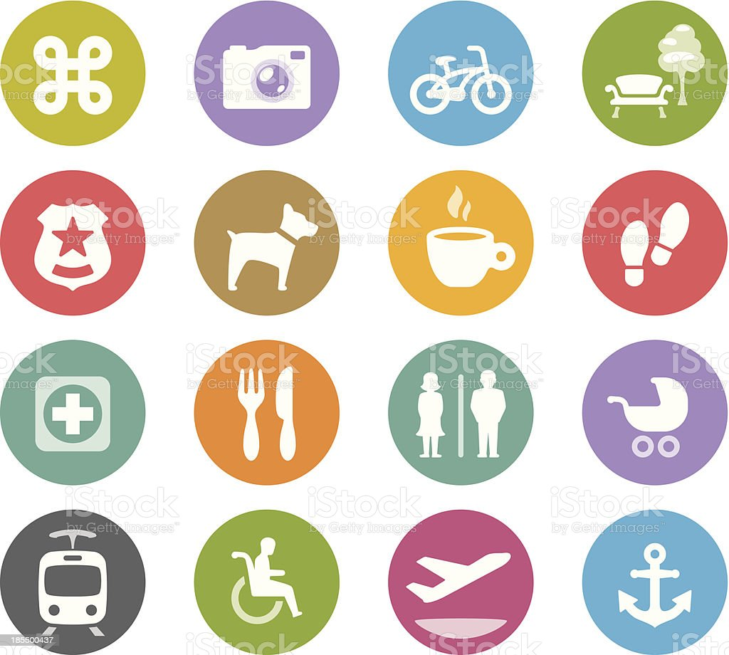 Urban navigation / Wheelico icons royalty-free stock vector art