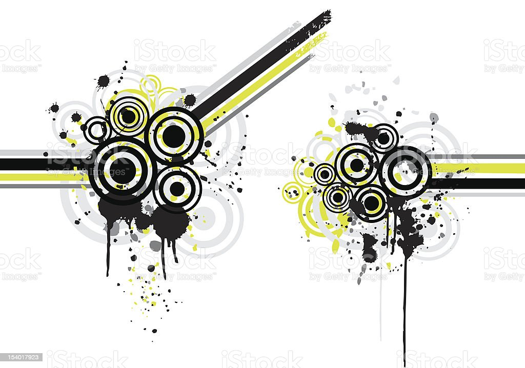 urban paint elements royalty-free stock vector art