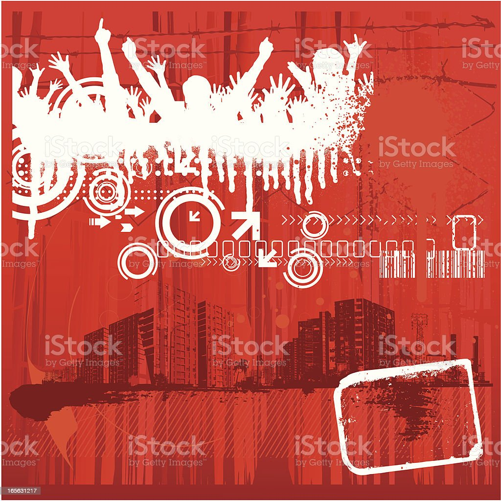 urban party poster royalty-free stock vector art