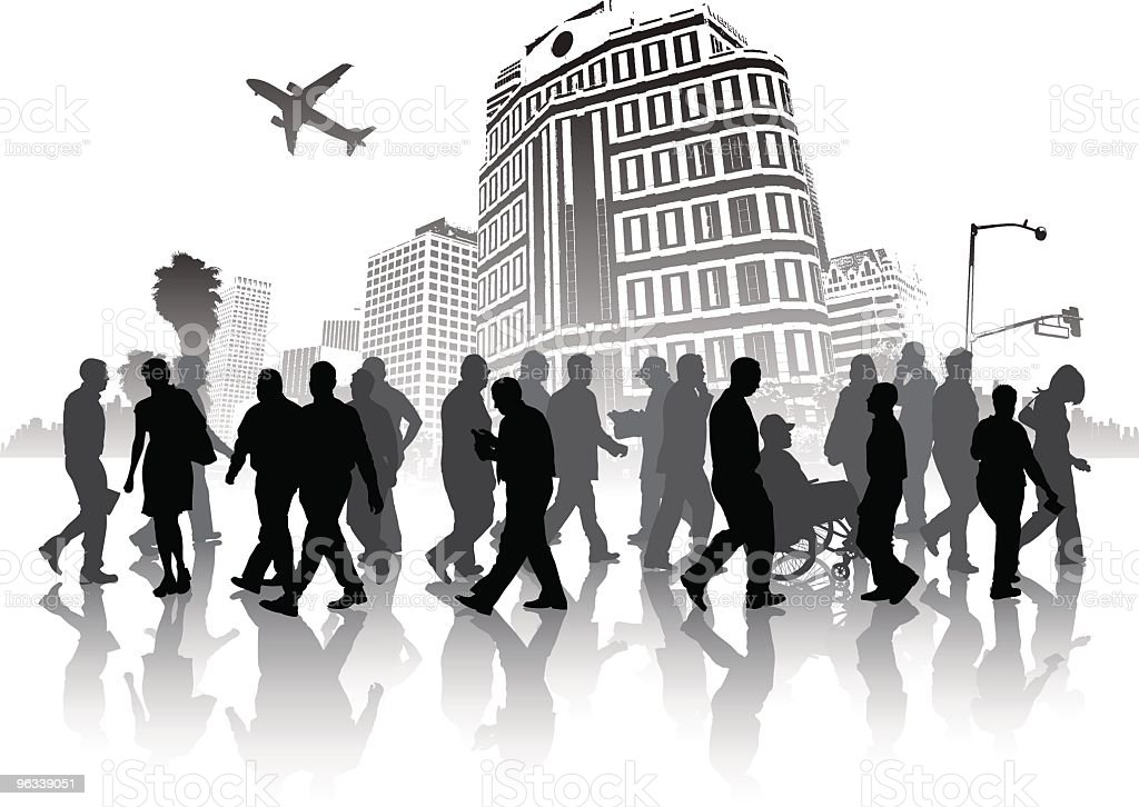 Urban Pedestrians royalty-free stock vector art