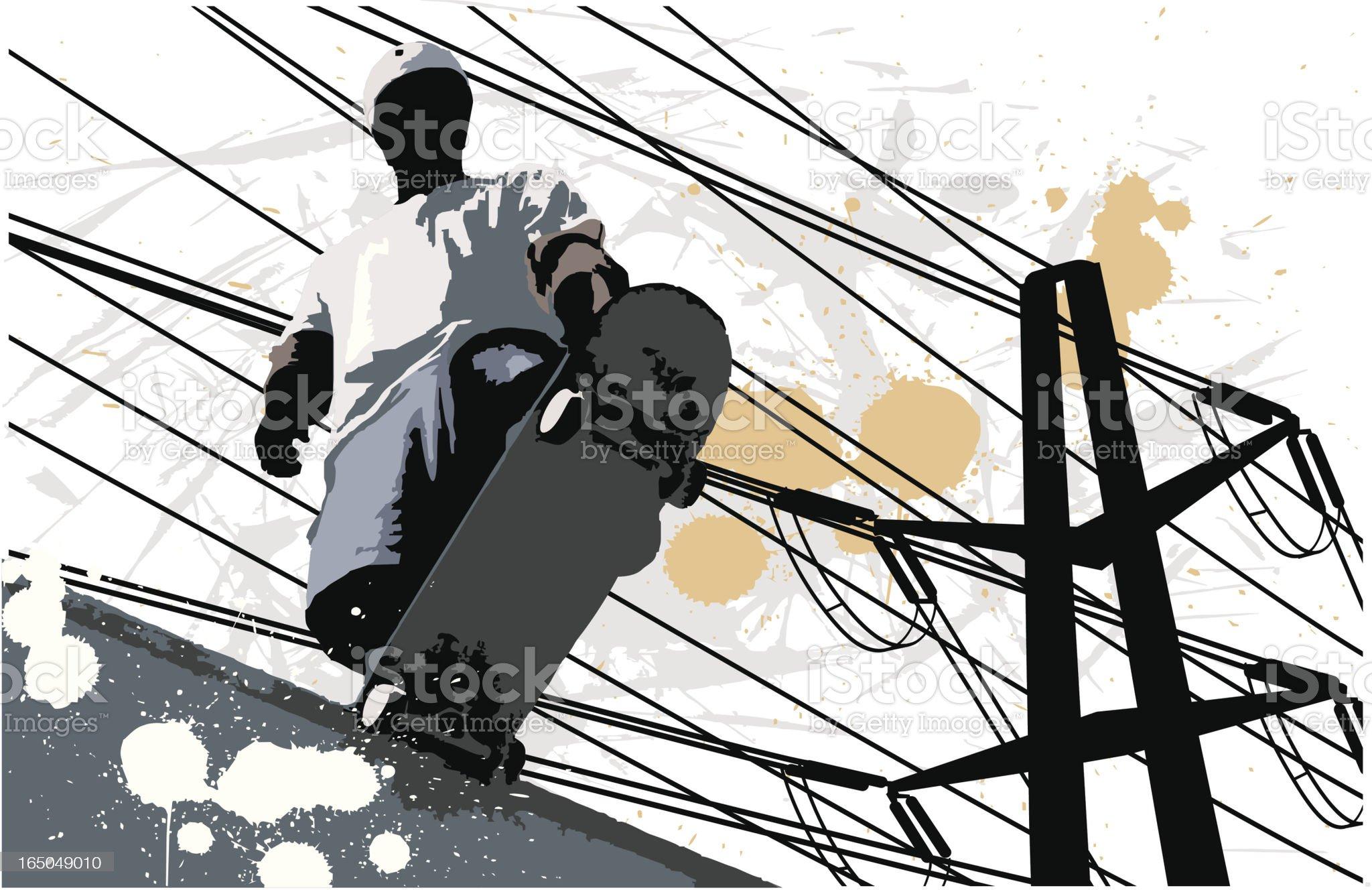 Urban Plunge royalty-free stock vector art