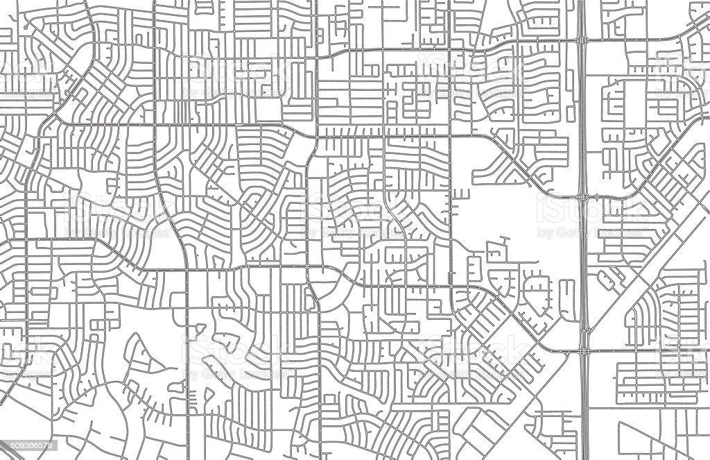 Urban road network vector art illustration