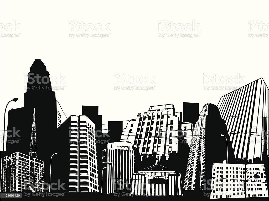 urban scene vector art illustration