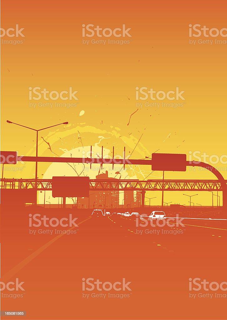 Urban sunset royalty-free stock vector art