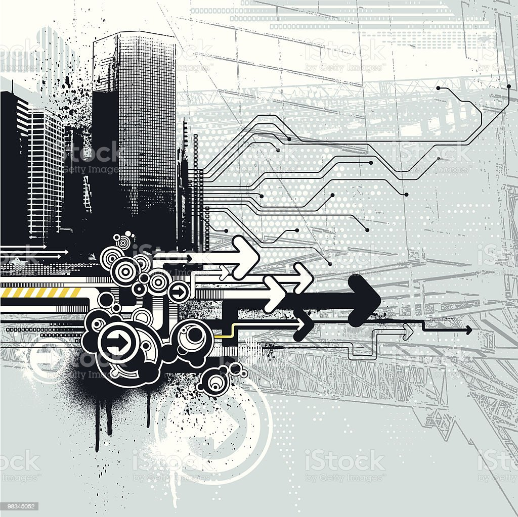 Urban Tech royalty-free stock vector art