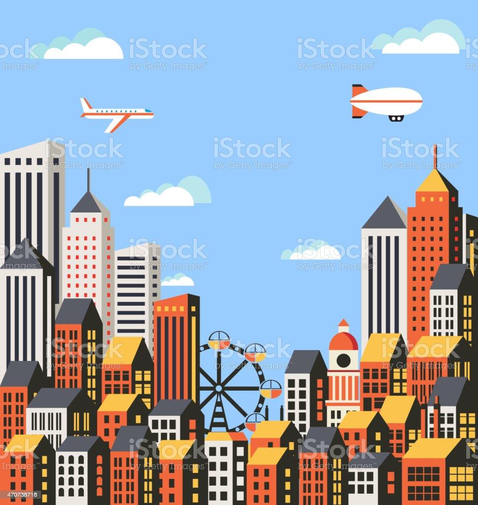 Urban vector art illustration