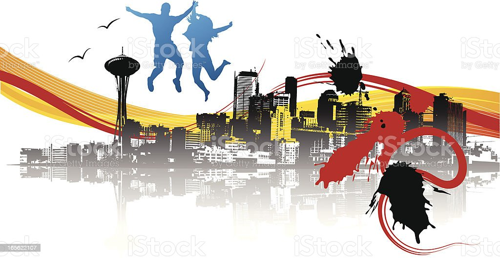 Urbanity grunge royalty-free stock vector art