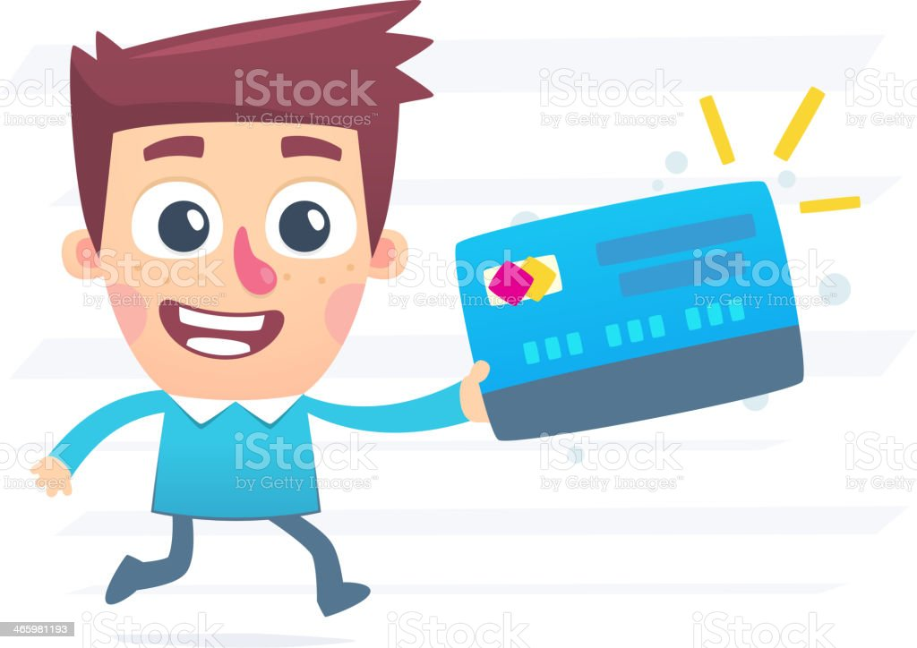 Urgent production of plastic cards royalty-free stock vector art