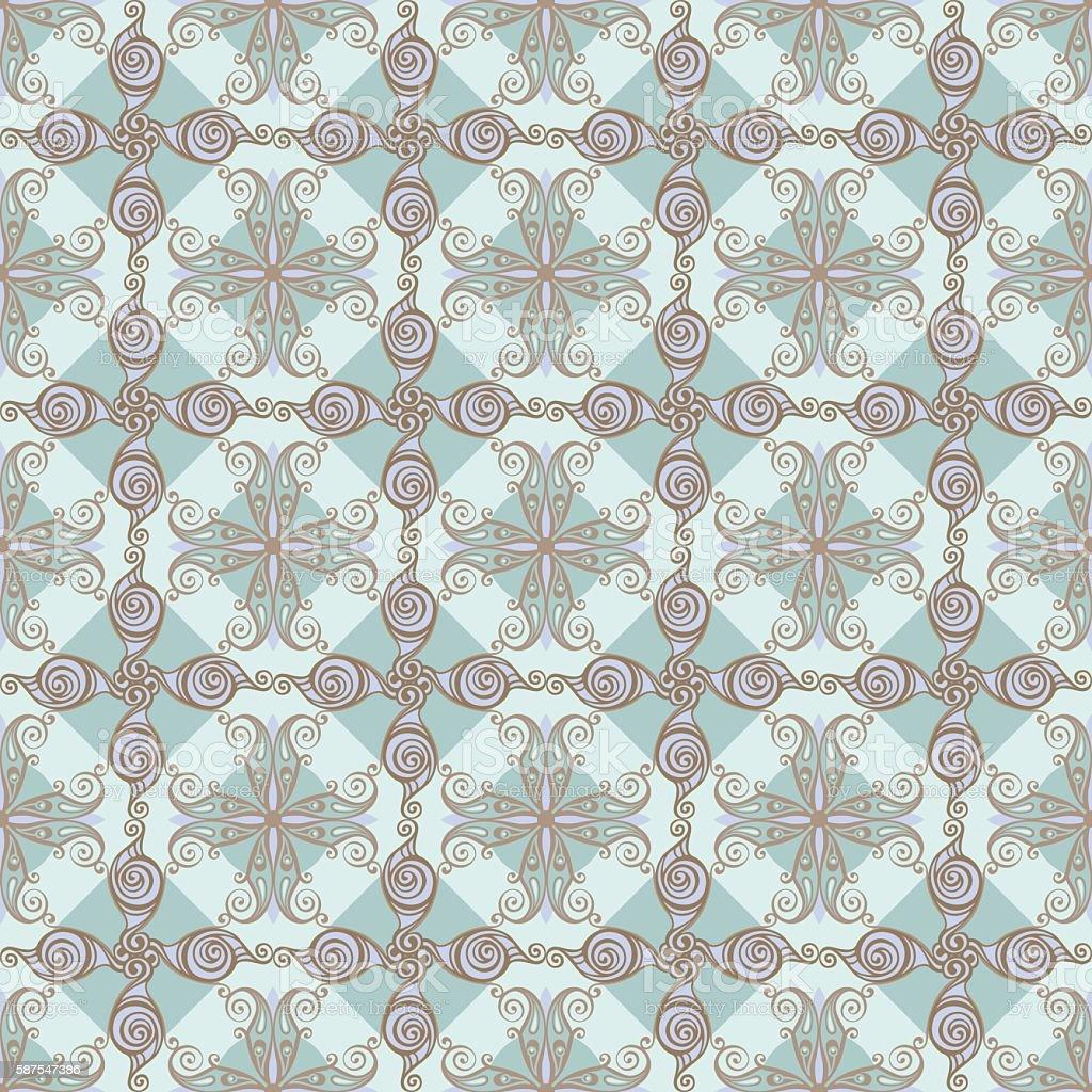 Сurled pattern vector art illustration