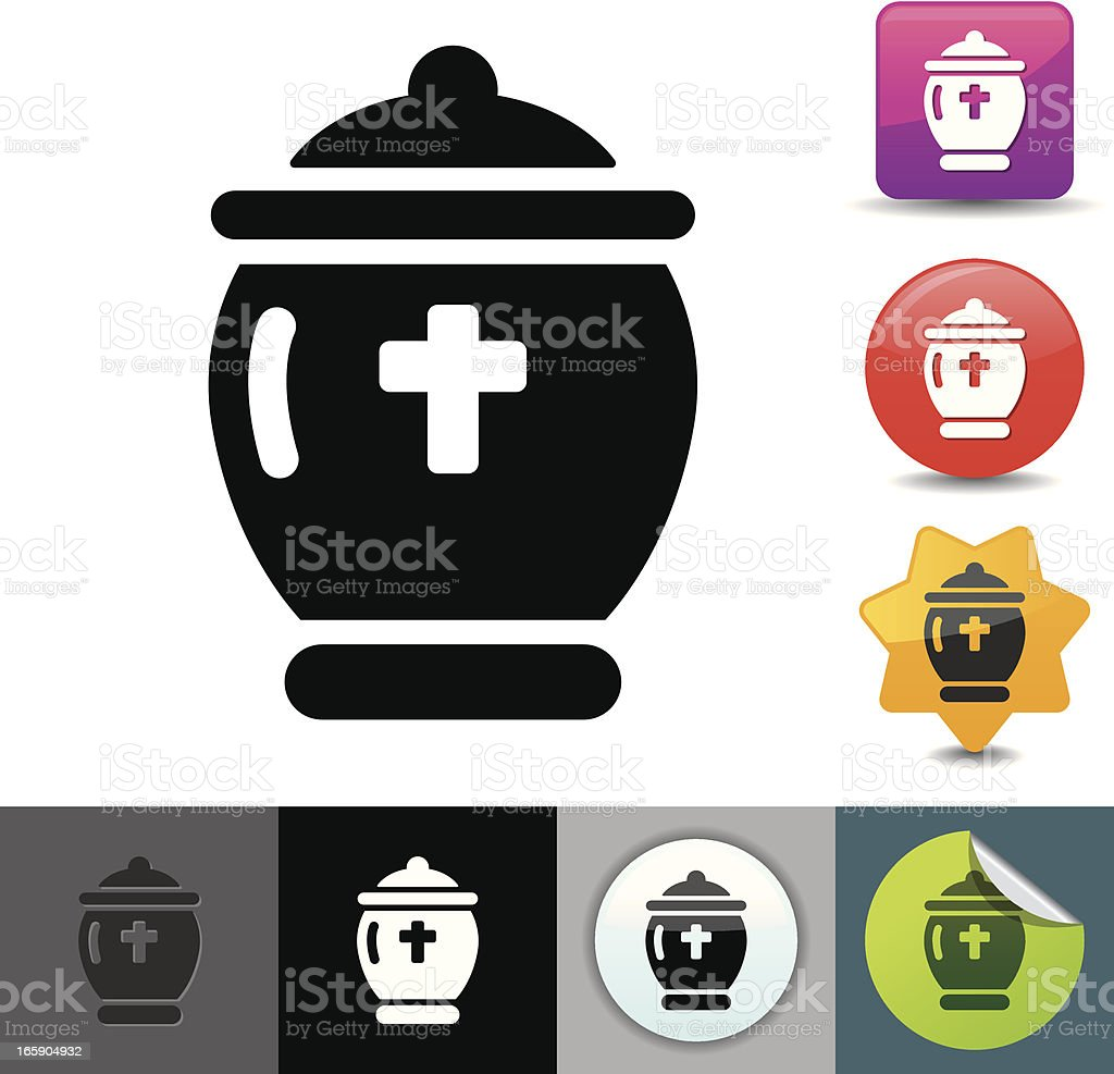 Urn icon | solicosi series royalty-free stock vector art