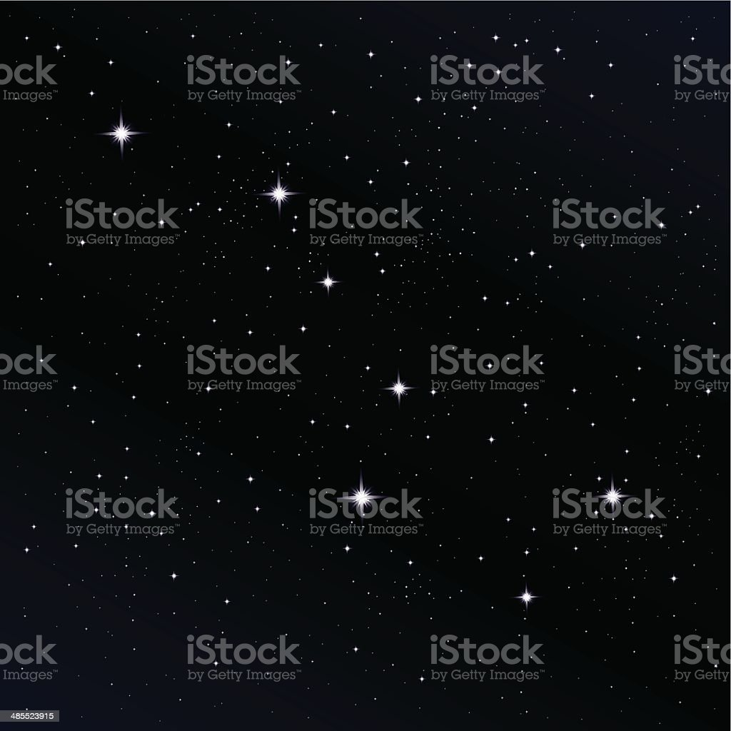 Ursa Major Constellation vector art illustration