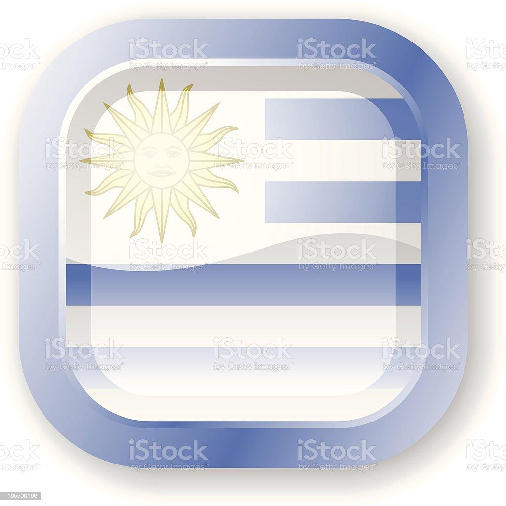 Uruguay Flag Icon royalty-free stock vector art