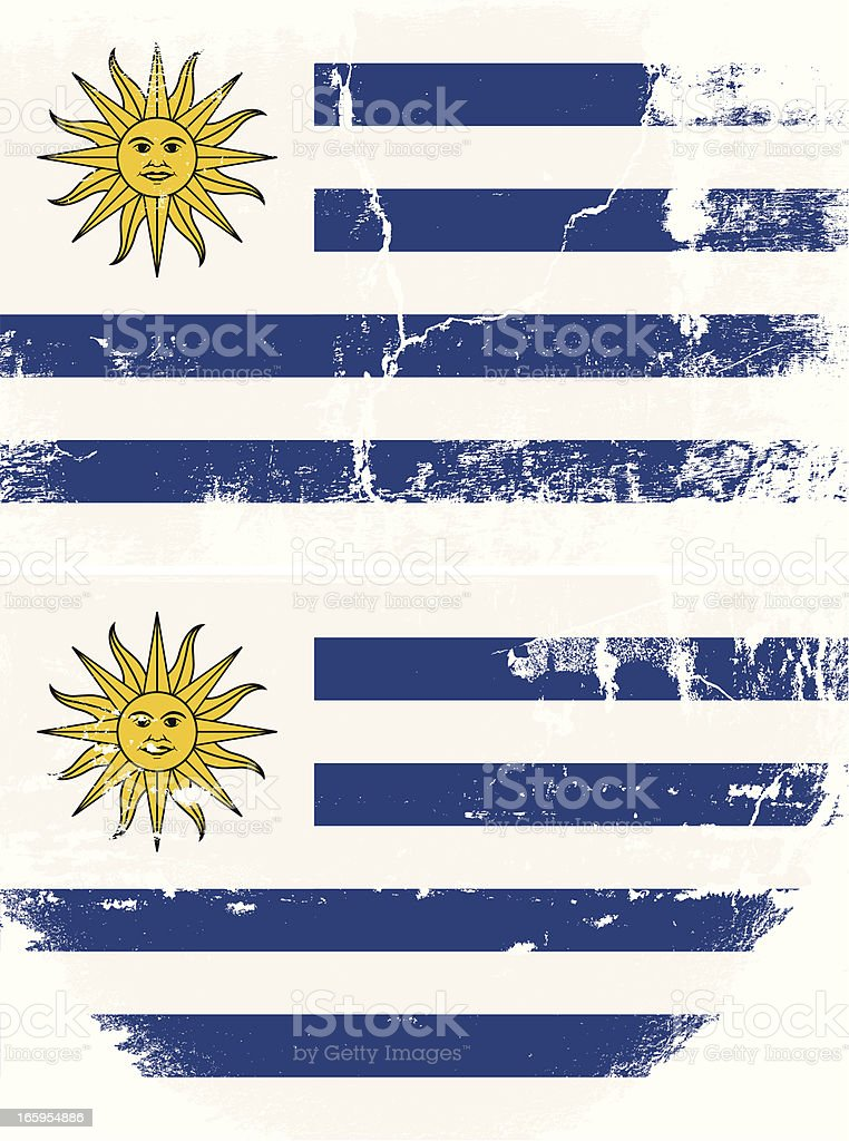 Uruguay Grunge flag royalty-free stock vector art