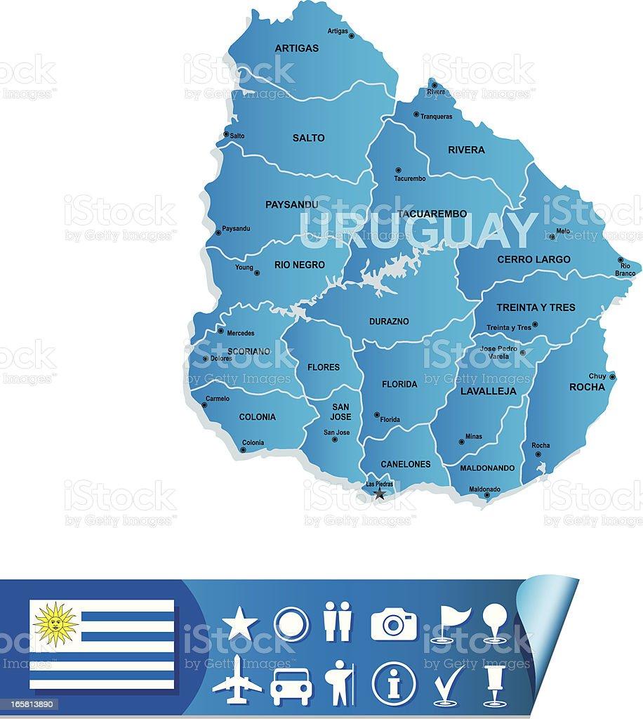 Uruguay map royalty-free stock vector art