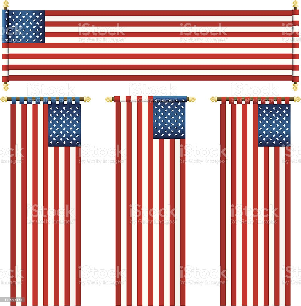 usa banners royalty-free stock vector art