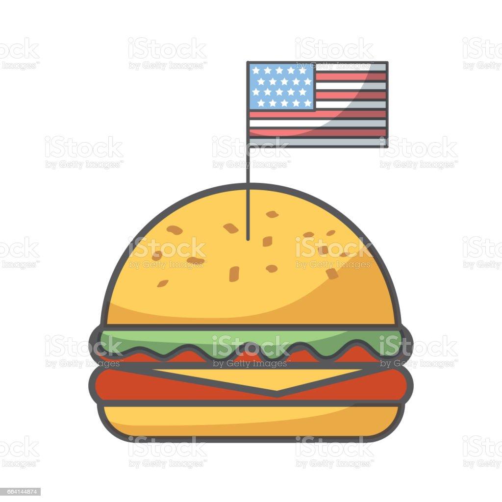 usa independence day design vector art illustration
