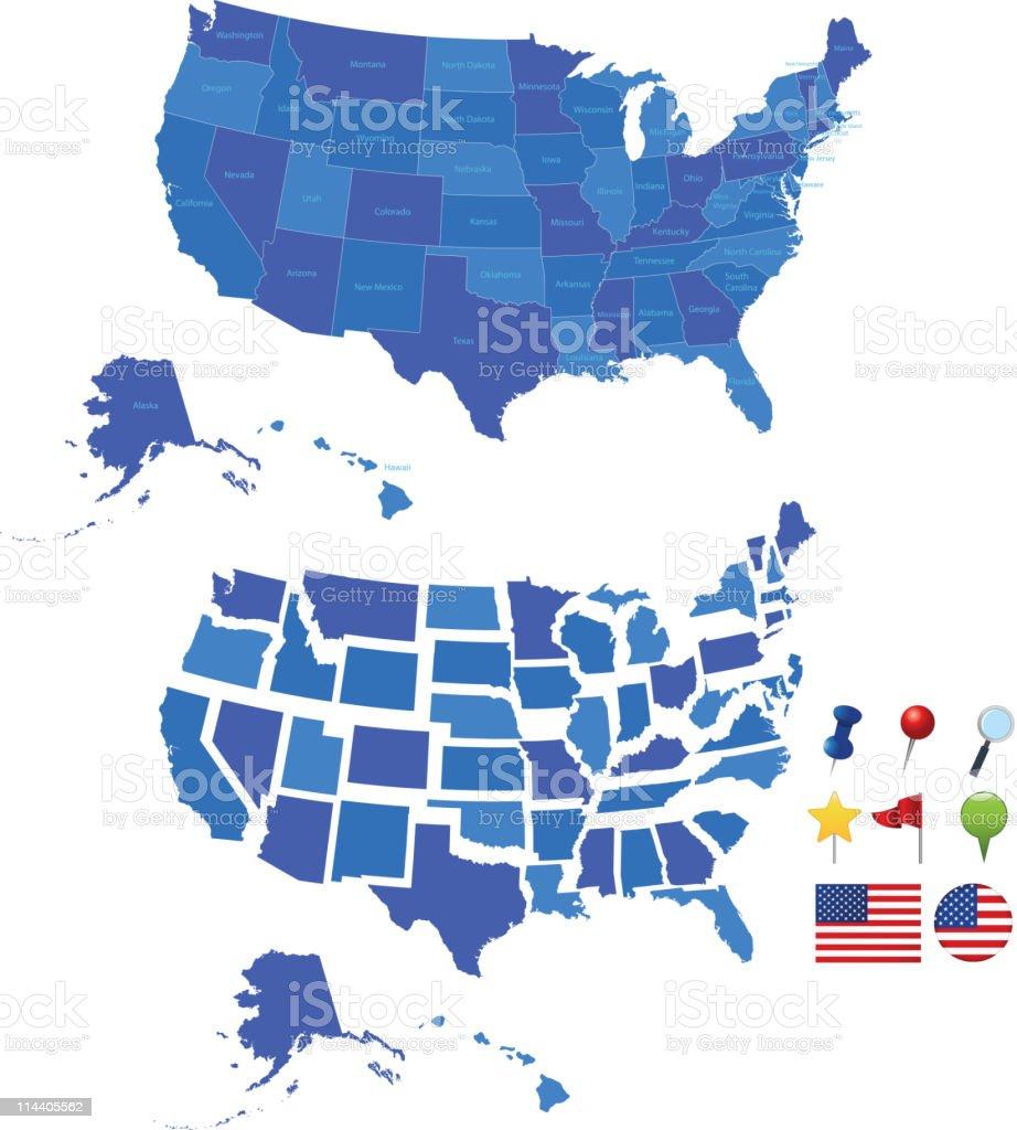 Usa map royalty-free stock vector art