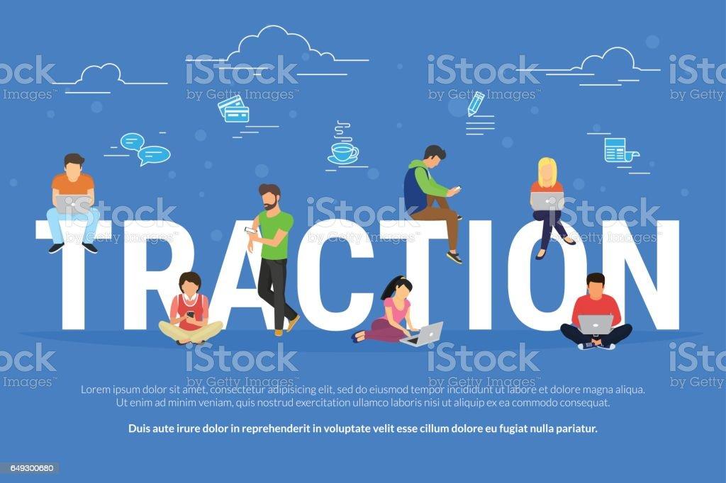 Usability traction concept illustration vector art illustration
