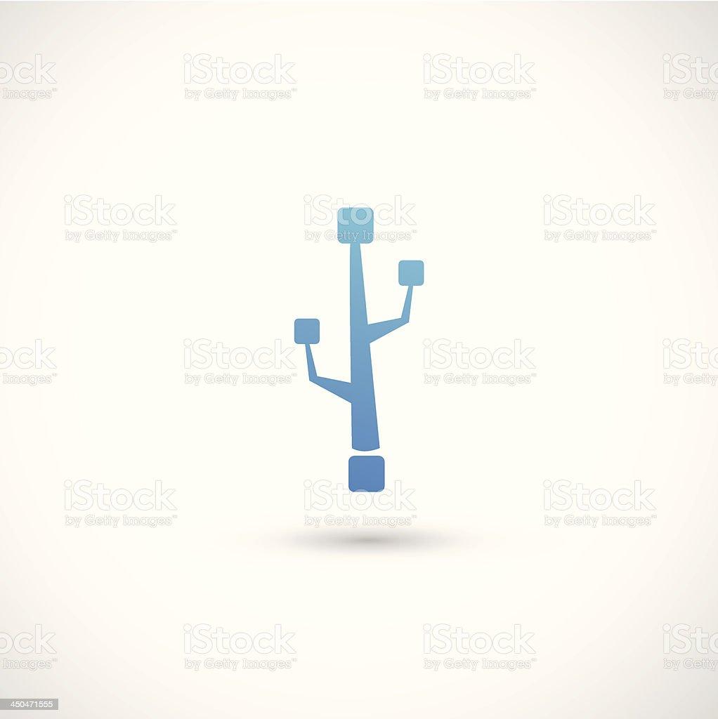 usb icon royalty-free stock vector art