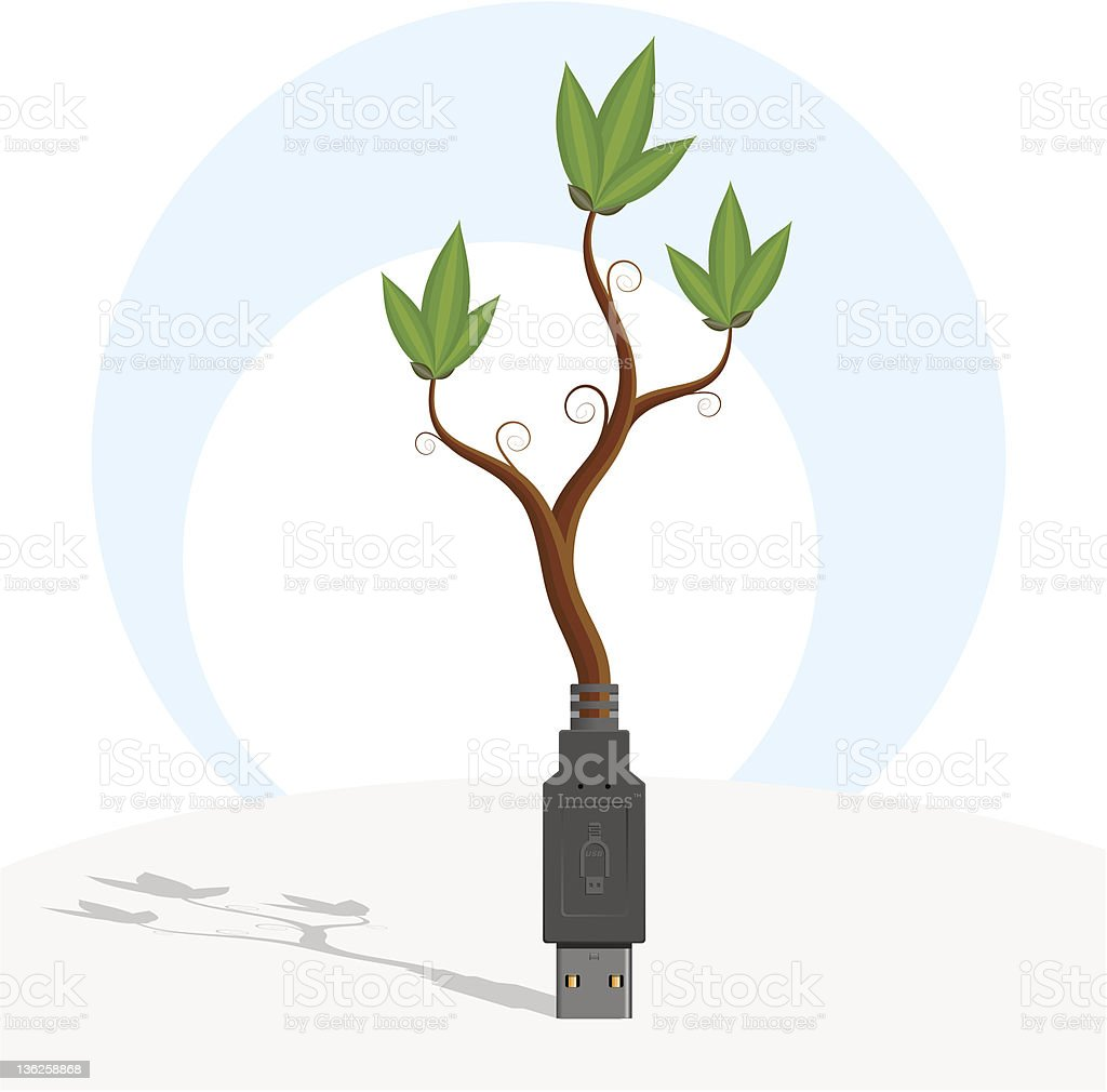 USB-plant. royalty-free stock vector art