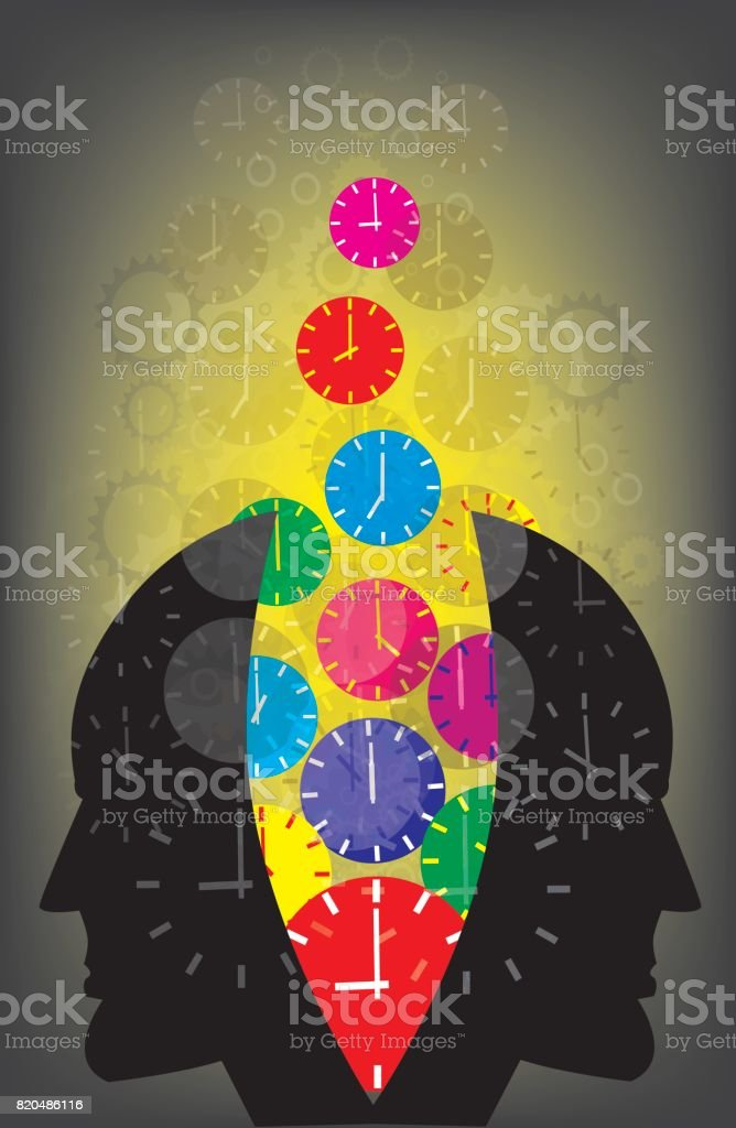Use the time, vector art illustration
