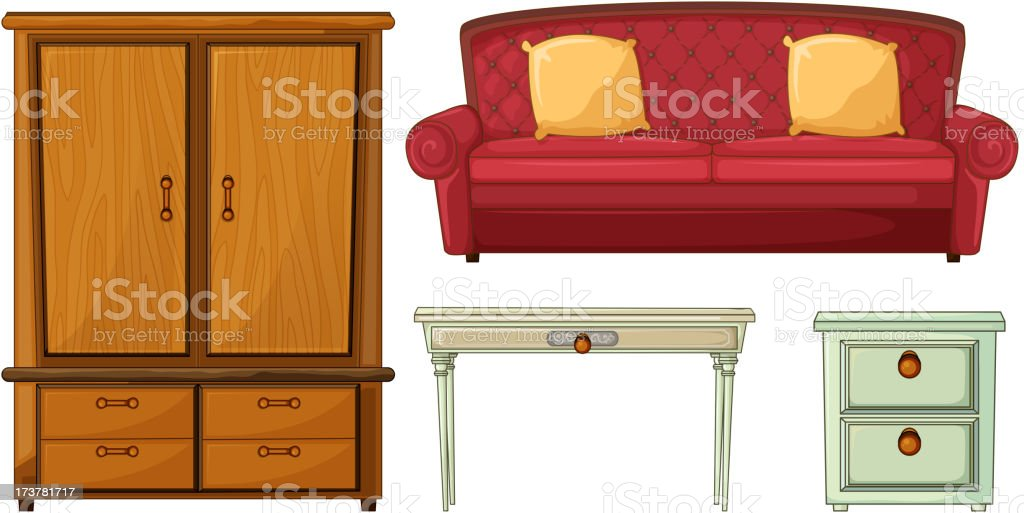 Useful Furnitures royalty-free stock vector art