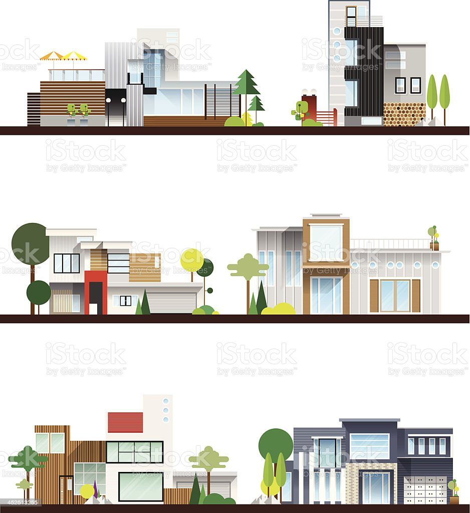 useful modern home vector art illustration