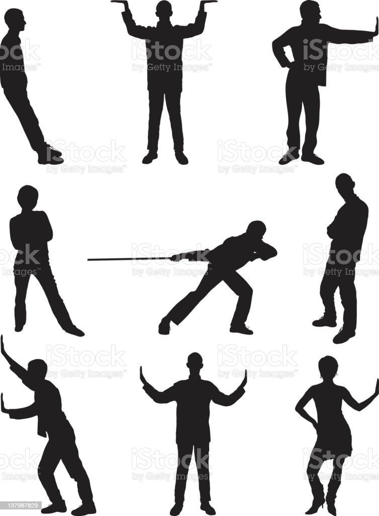 Useful Poses vector art illustration