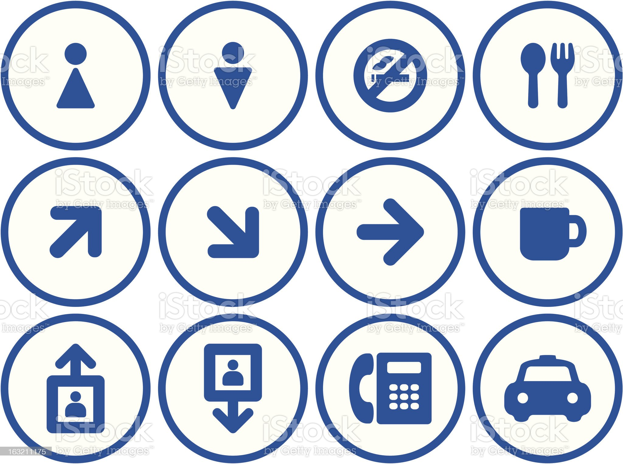 Useful Vector Icons Set - Shopping mall signs royalty-free stock vector art