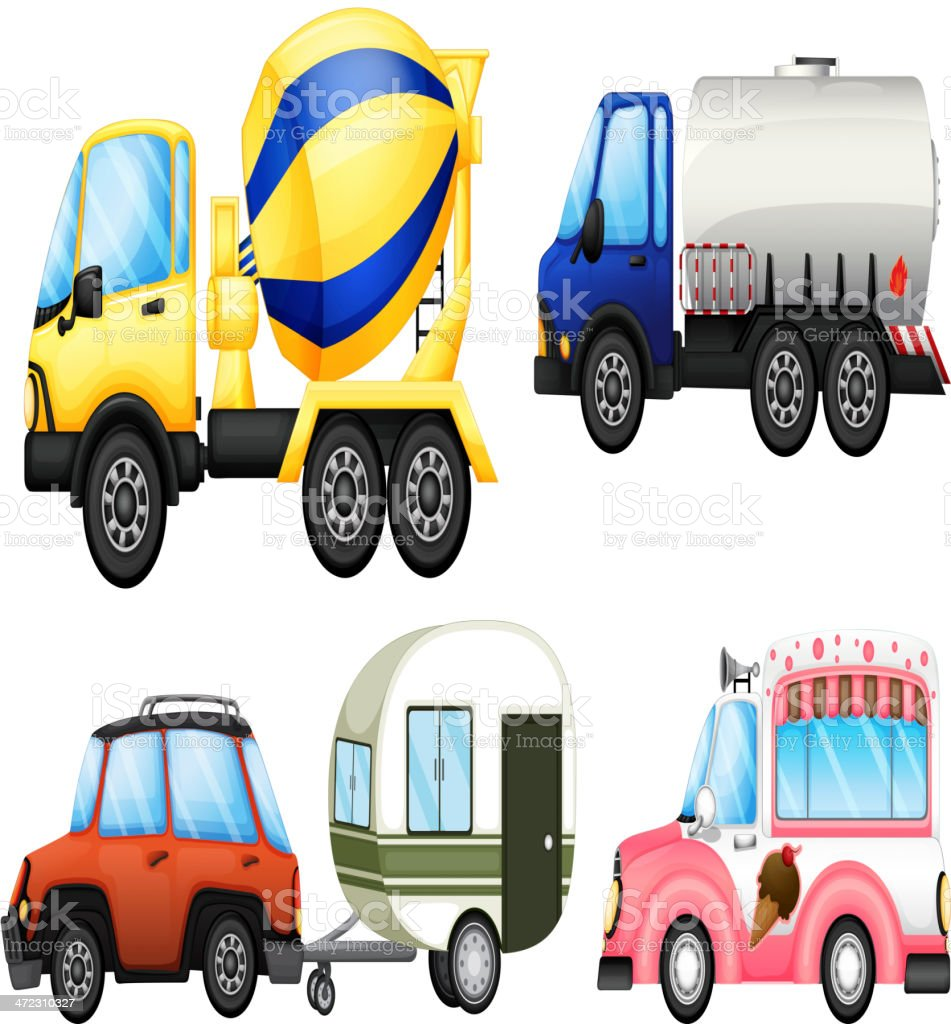 Useful vehicles royalty-free stock vector art