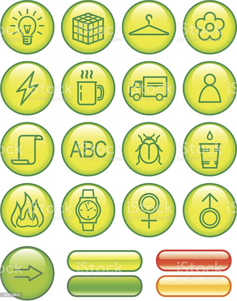 Useful Web Icons Set royalty-free stock vector art