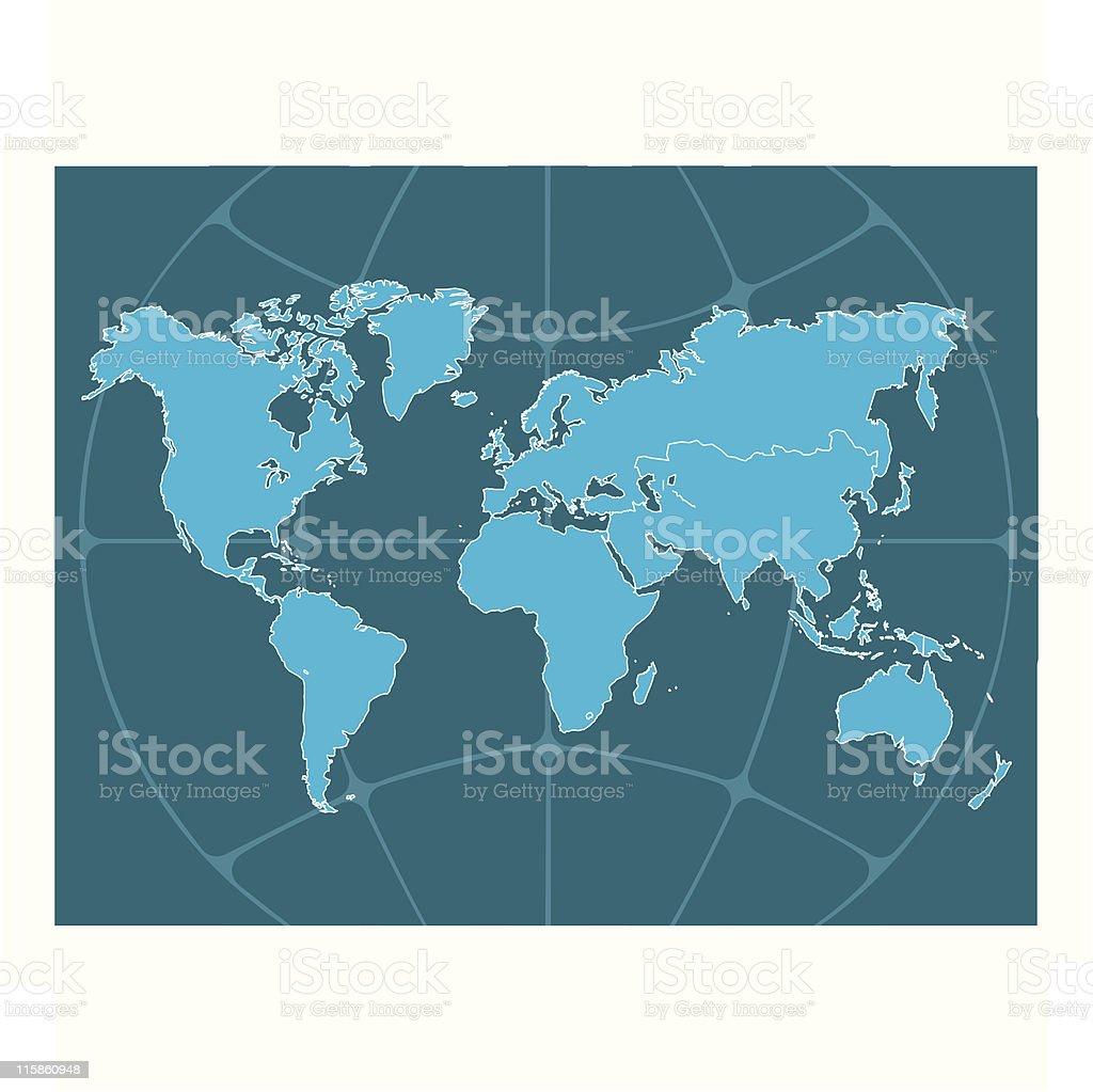 Useful World Map royalty-free stock vector art