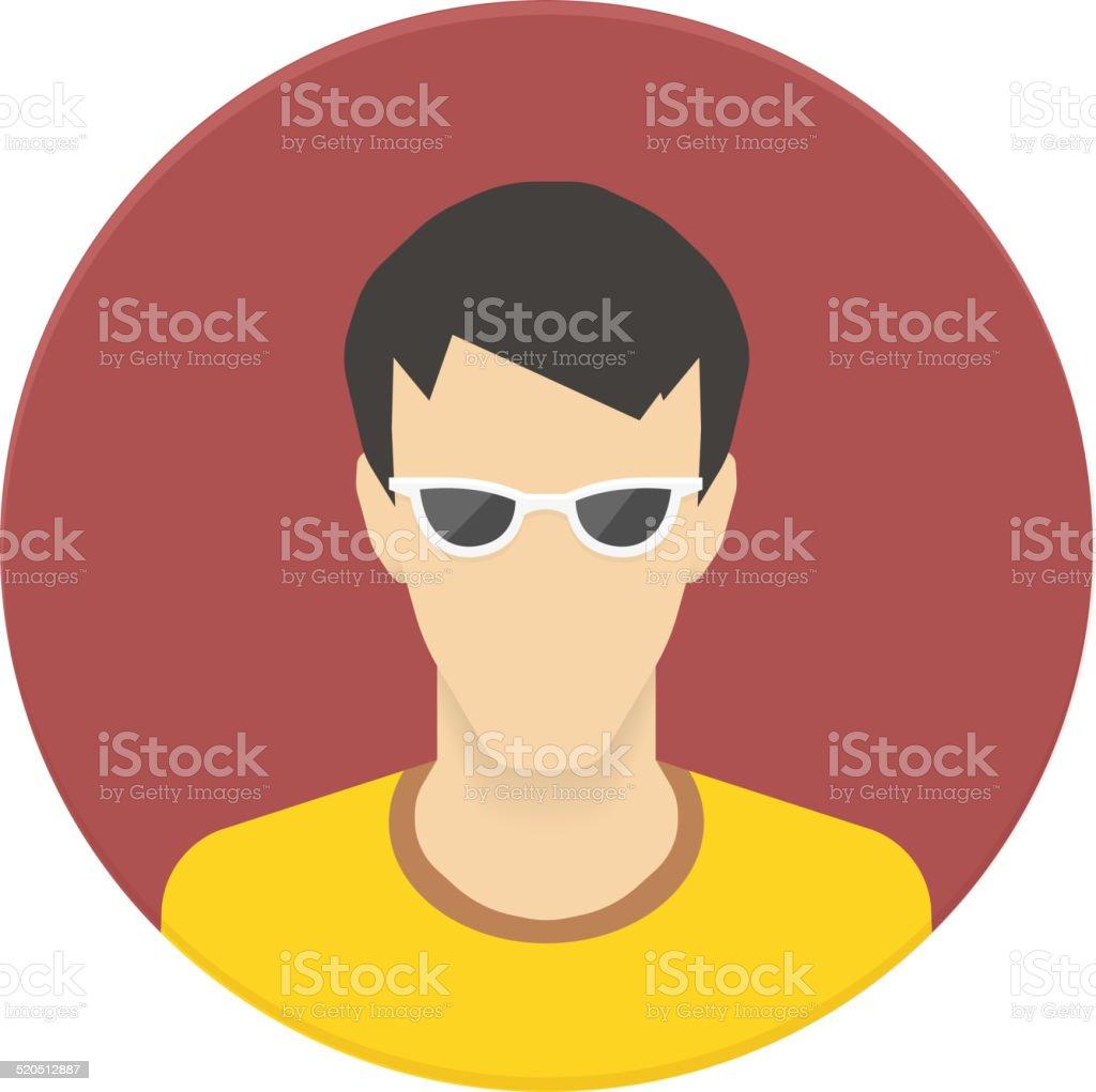 User avatar vector icon for web site or mobile app vector art illustration