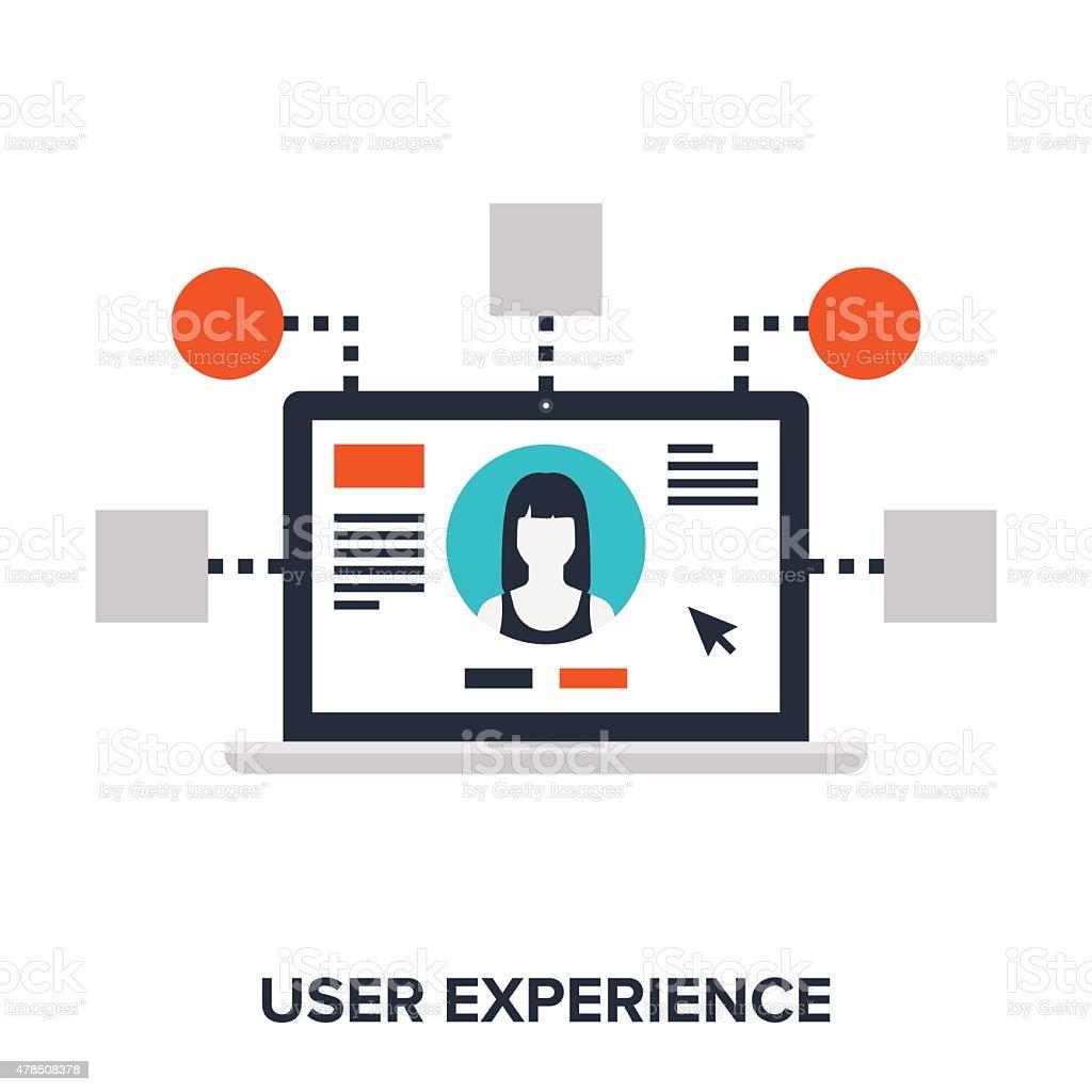 user experience vector art illustration