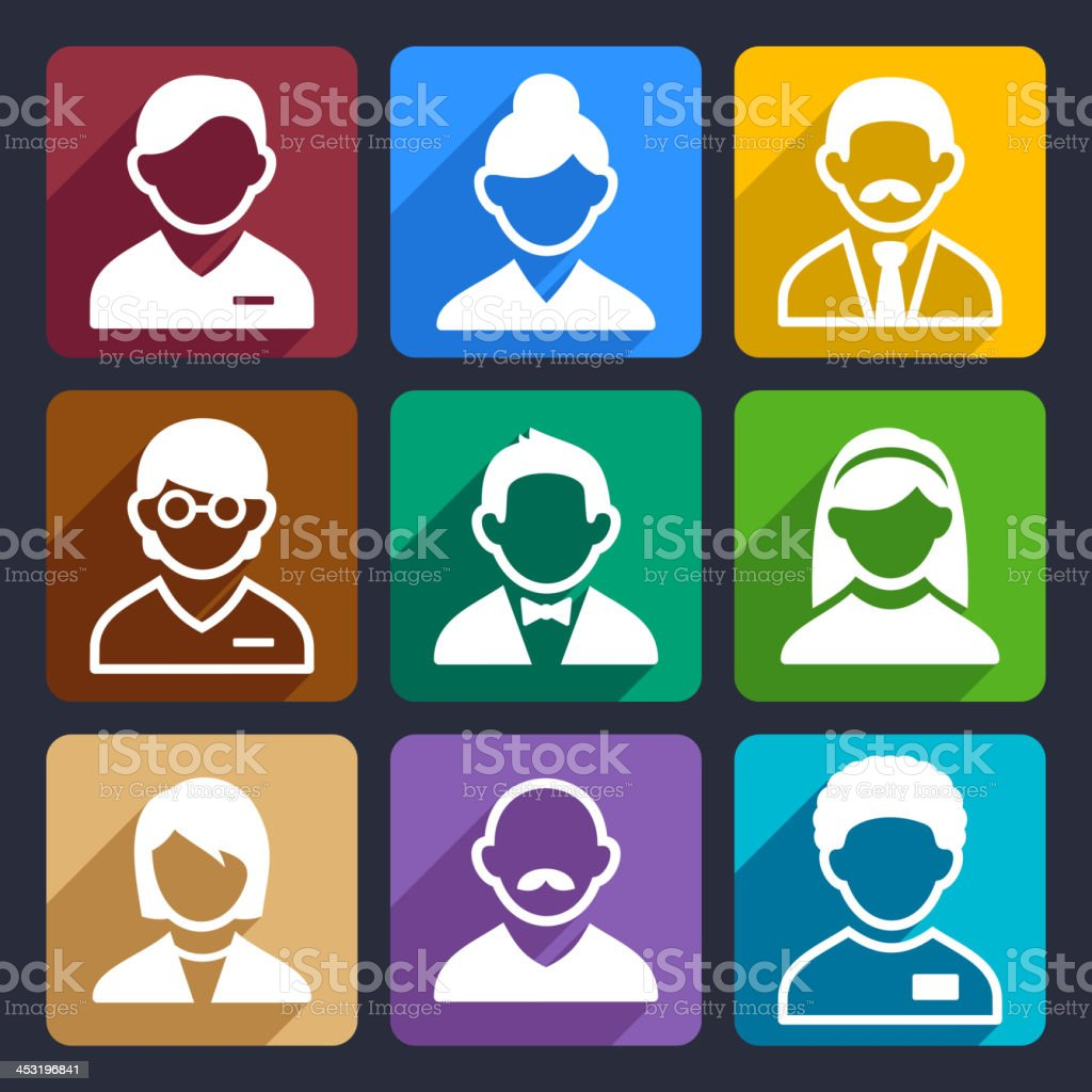 User flat icons set 11 royalty-free stock vector art
