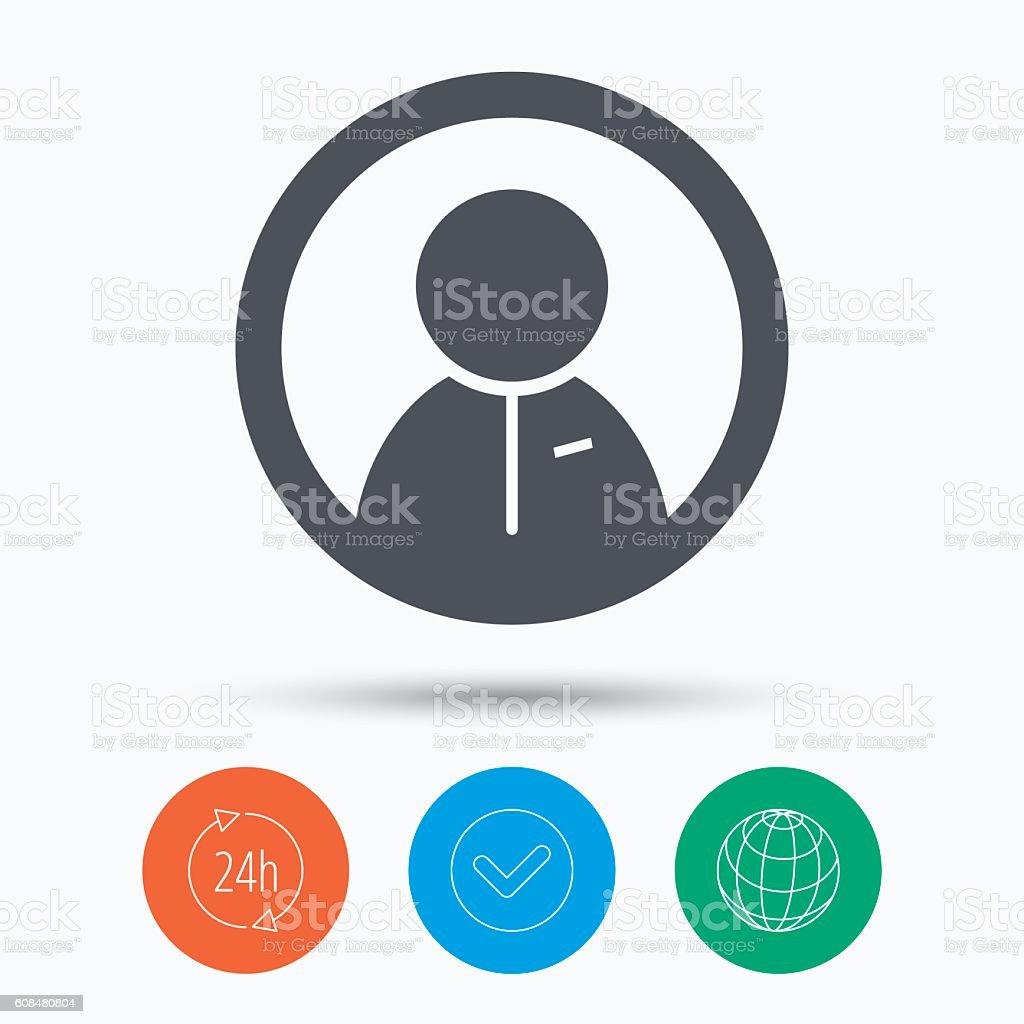 User icon. Human person sign. vector art illustration