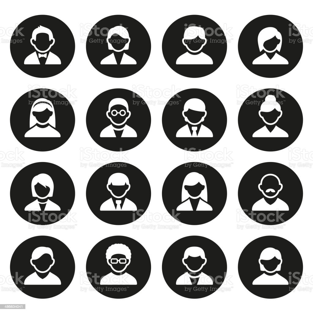 User icons set royalty-free stock vector art