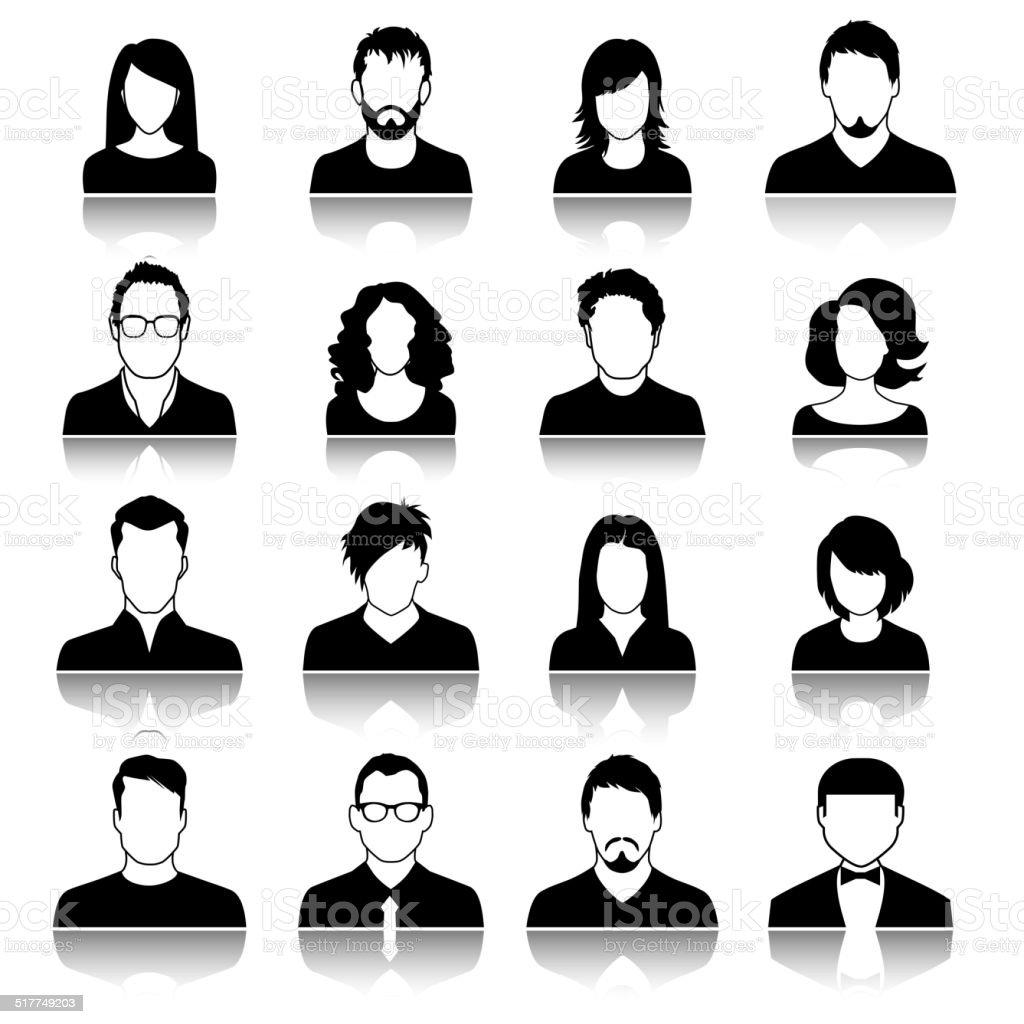 User icons vector art illustration