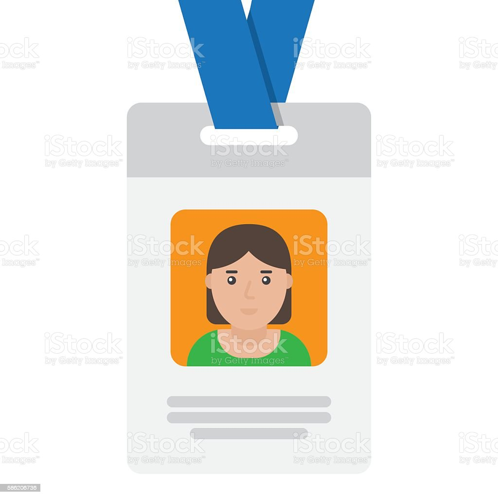 User id card with female photo vector art illustration