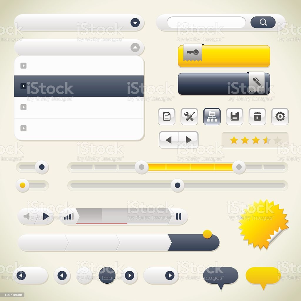 User Interface Collection royalty-free stock vector art