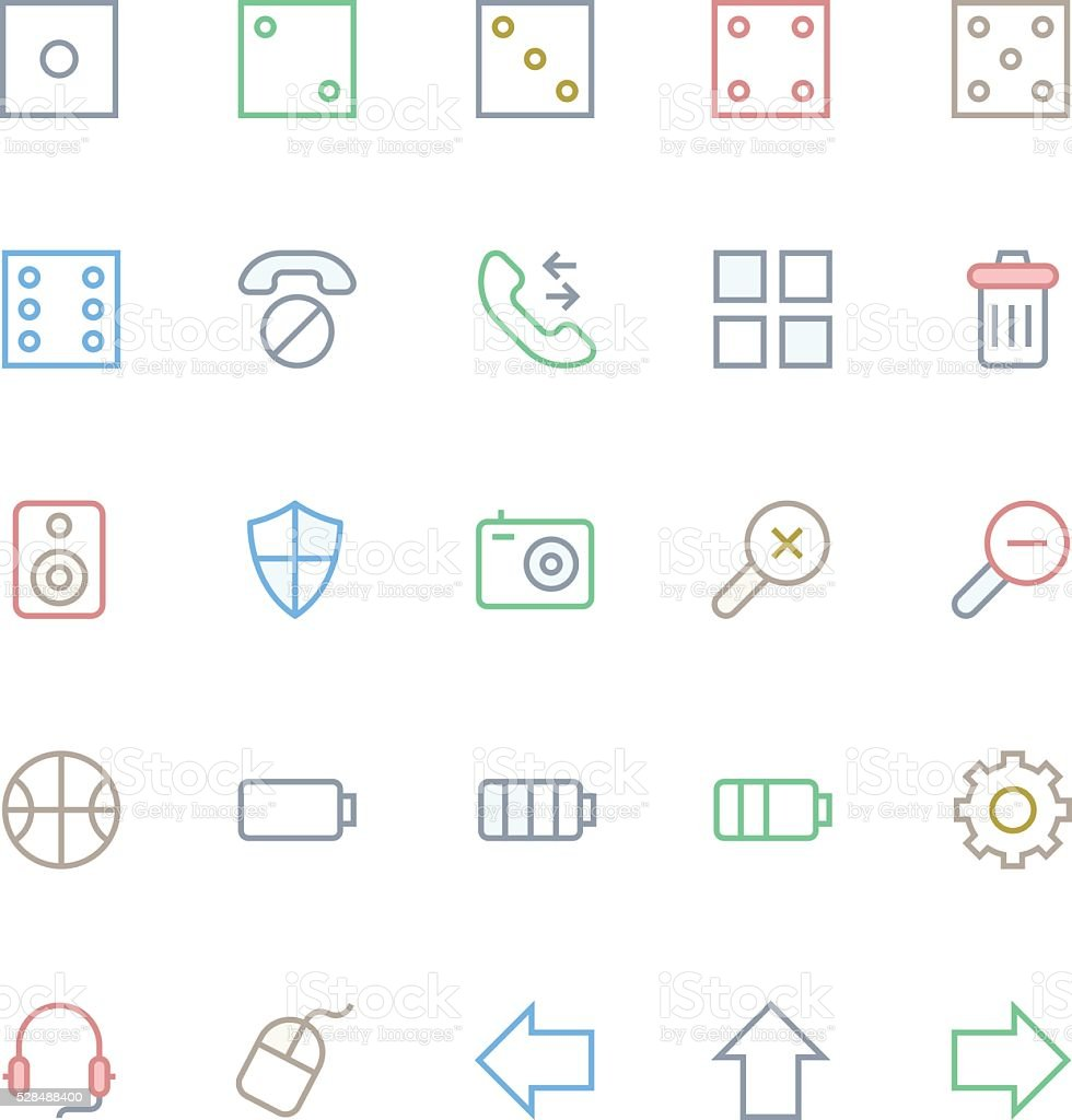 User Interface Colored Line Vector Icons 13 vector art illustration