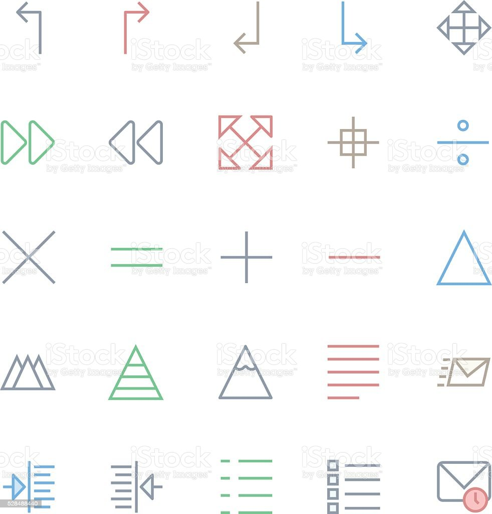 User Interface Colored Line Vector Icons 19 vector art illustration