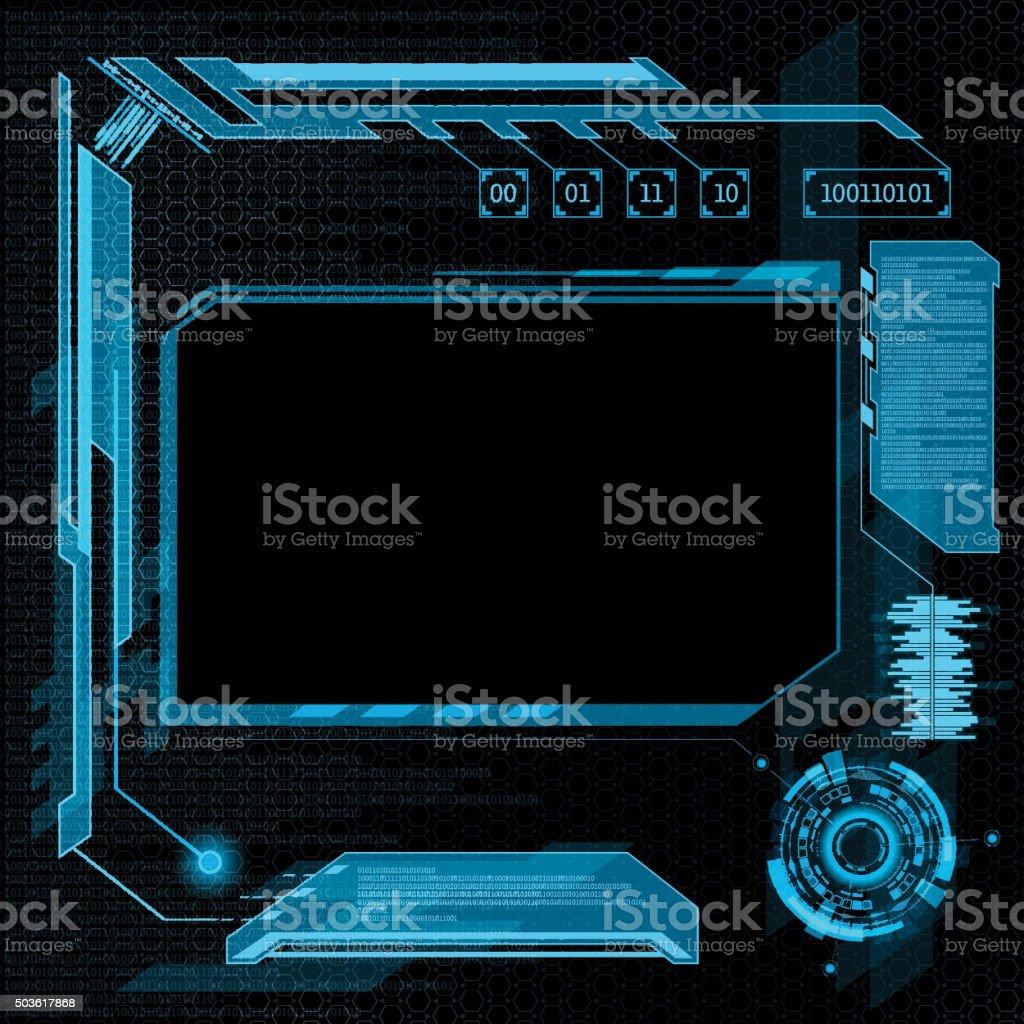 user interface HUD. vector art illustration