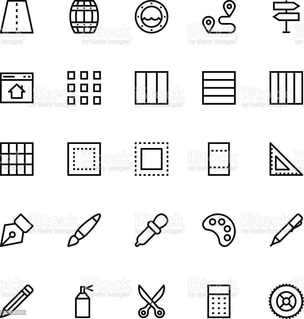 User Interface Line Vector Icons 27 vector art illustration