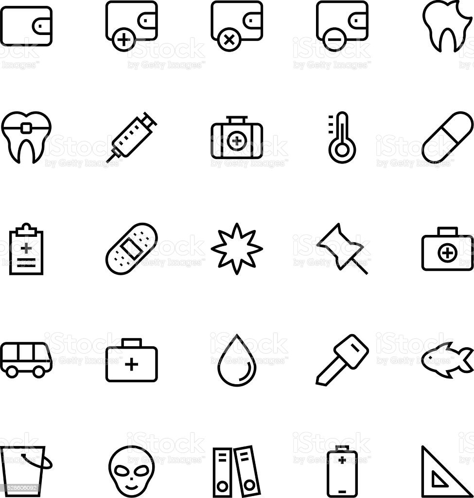 User Interface Line Vector Icons 53 vector art illustration