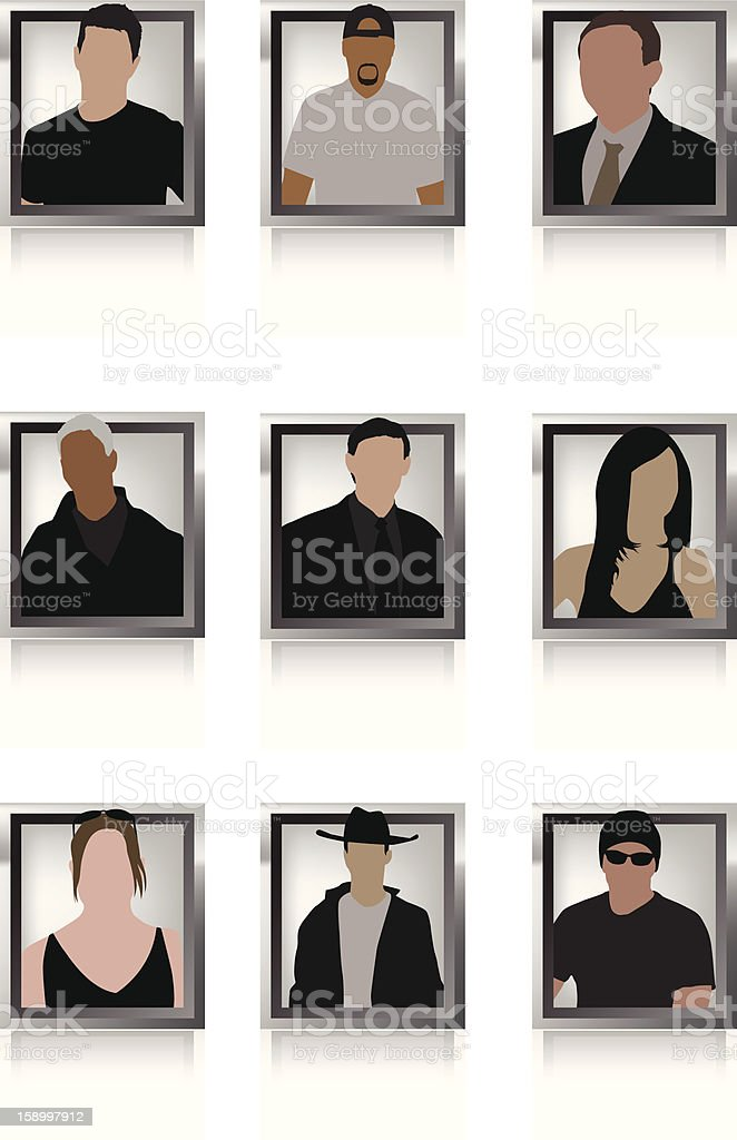 User Profiles royalty-free stock vector art