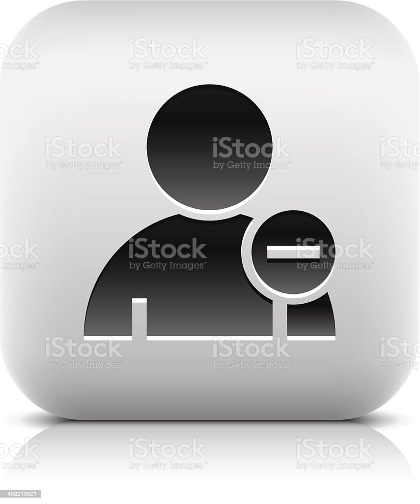 User sign with minus pictogram rounded square icon web button royalty-free stock vector art