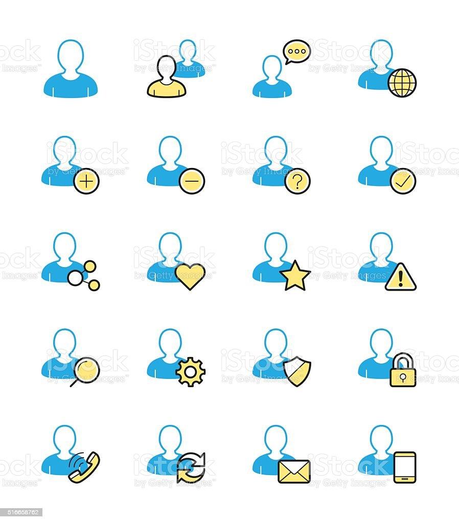 User website icon, Monochrome color - Vector Illustration vector art illustration